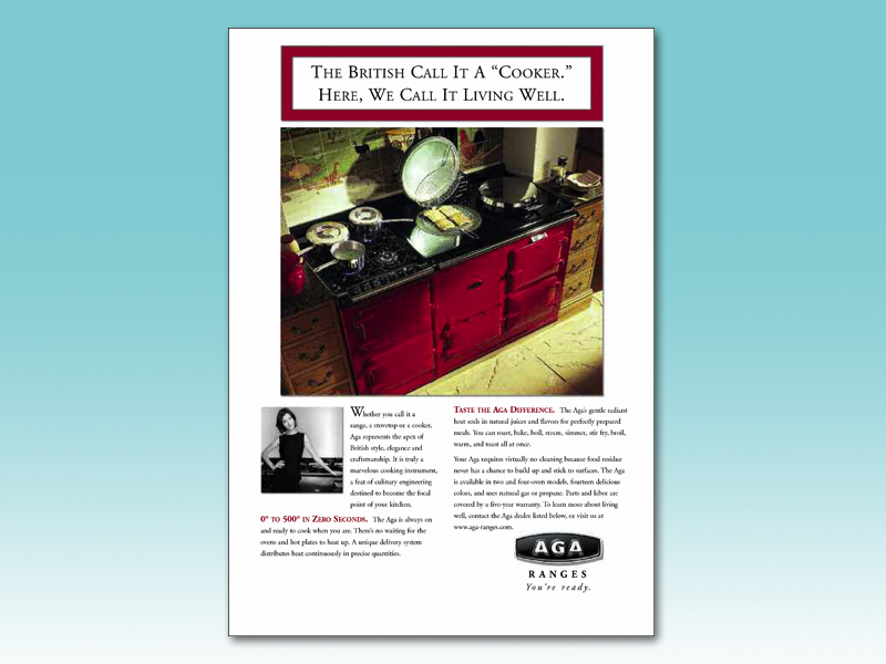 Introduction of a famous British appliance to the US market.