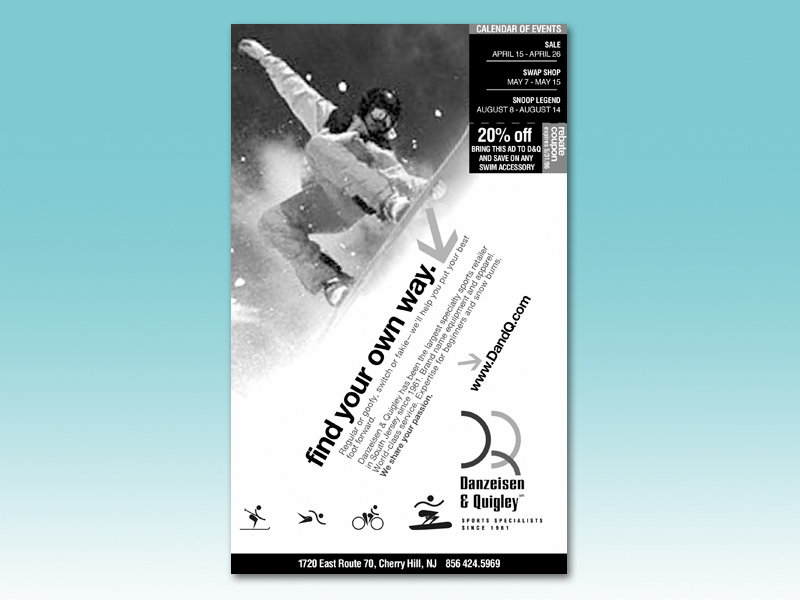 A series promoting individual sports for a regional retailer.