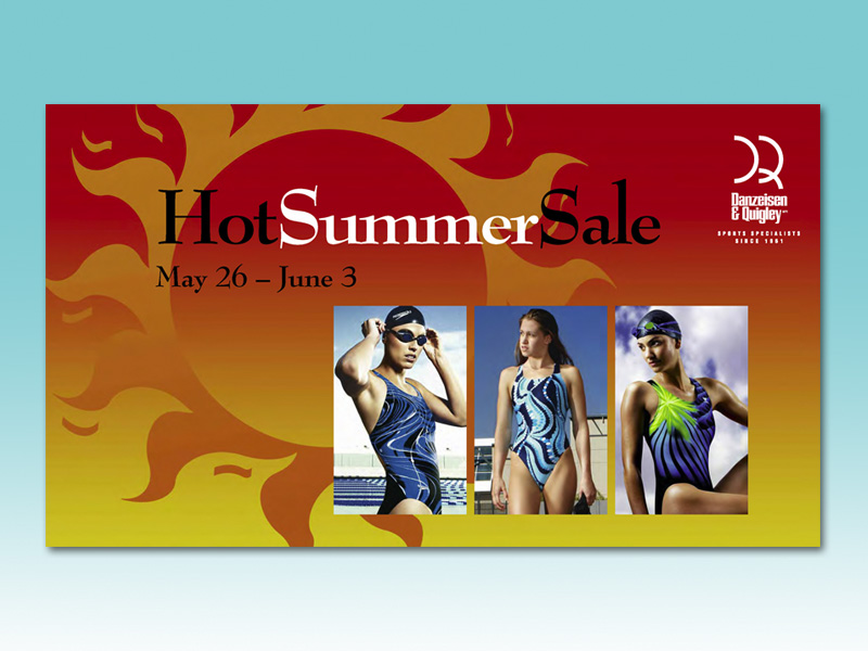 A postcard campaign to promote an annual sale.