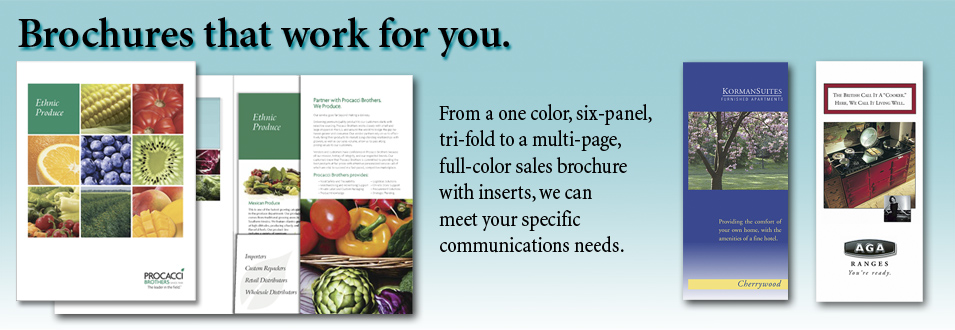 Brochures that work for you